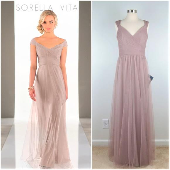 ab34af9ae2f Sorella Vita 8920 Off Shoulder Net Formal Dress A5